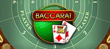 This Baccarat version is played with eight decks on the full table, and players need to bet on the player, banker or a tie. This game brings the player into an atmosphere that may not represent that of a real casino, but actually may exceed it through a fine, graphically superior baccarat game experience.