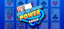 Tens or better Power Poker is one of most famous playing cards game, play four hands at the same time and collect 4000 coins with the maximum pay out. Try the double get more FUN!
